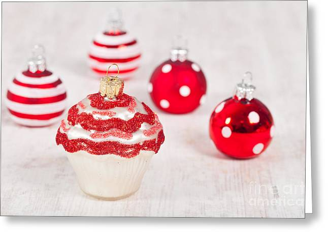 Festivities Greeting Cards - Christmas cupcake decoration Greeting Card by Sabino Parente