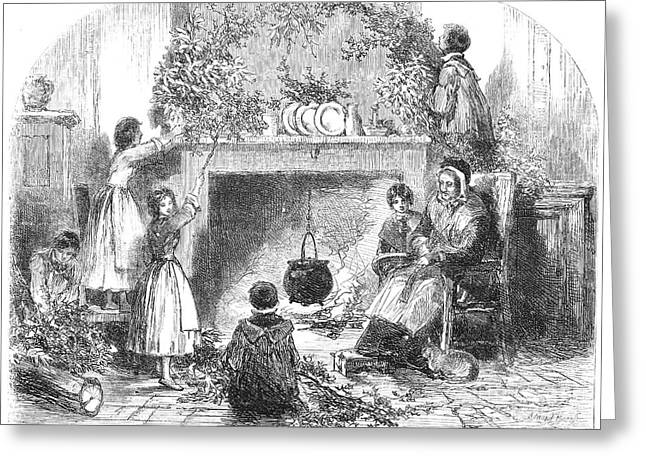 Middle Class Greeting Cards - Christmas Eve, 1855 Greeting Card by Granger