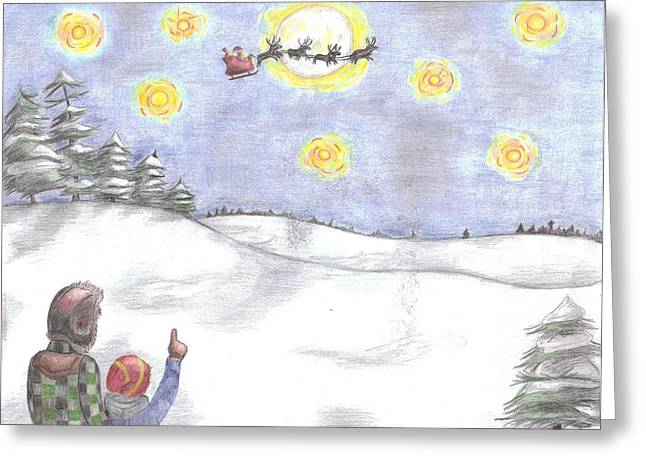 Christmas Eve Greeting Card by Joanna Howell