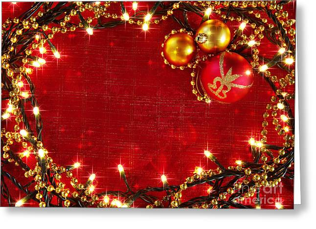 Backdrop Greeting Cards - Christmas Frame Greeting Card by Carlos Caetano