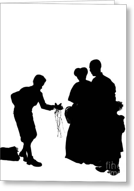 Christmas Gift - A Silhouette 1a Greeting Card by Reggie Duffie