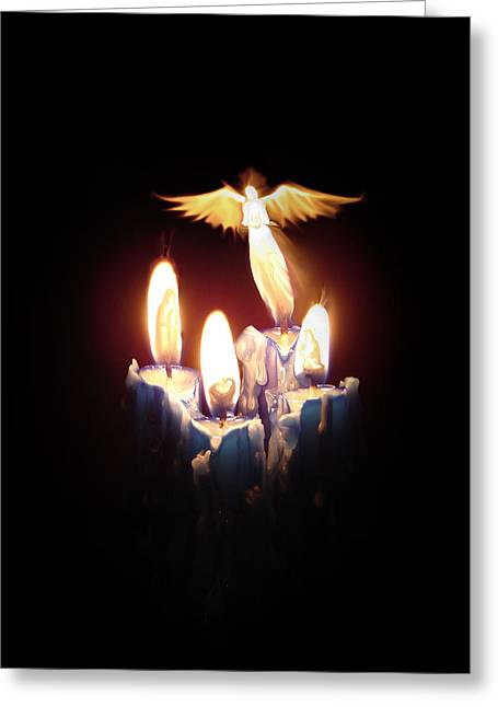 Christ Child Greeting Cards - Christmas in Advent candles Greeting Card by Luka Balic