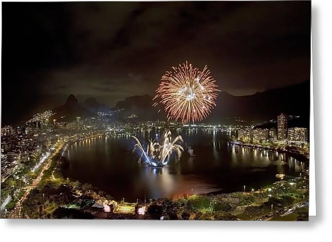 Christmas In Rio 2 Greeting Card by Sergio Bondioni