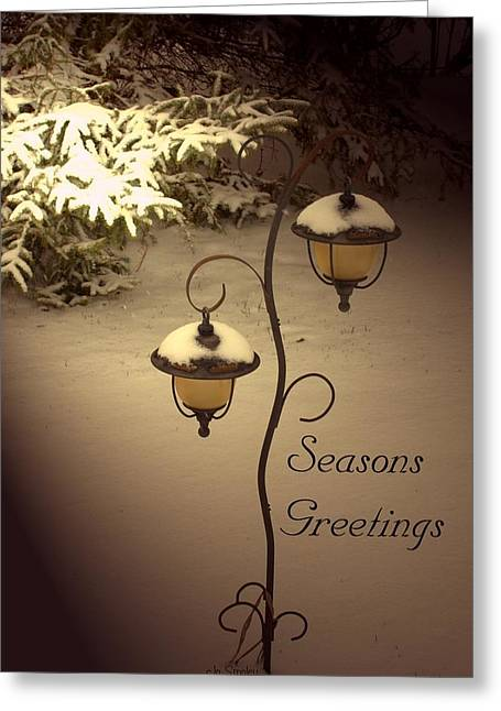 Christmas Greeting Greeting Cards - Christmas Lanterns 2 Greeting Card by Joanne Smoley