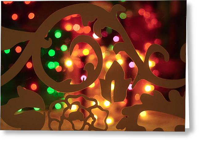 Main Street Greeting Cards - Christmas lights 1 Greeting Card by Toni Hopper