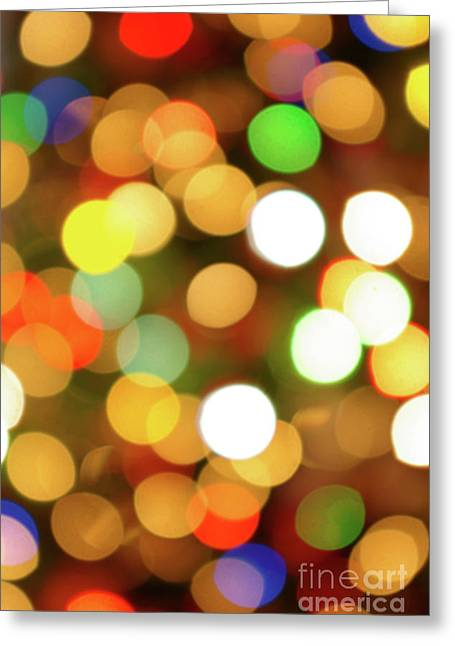 Surprise Greeting Cards - Christmas Lights Greeting Card by Carlos Caetano