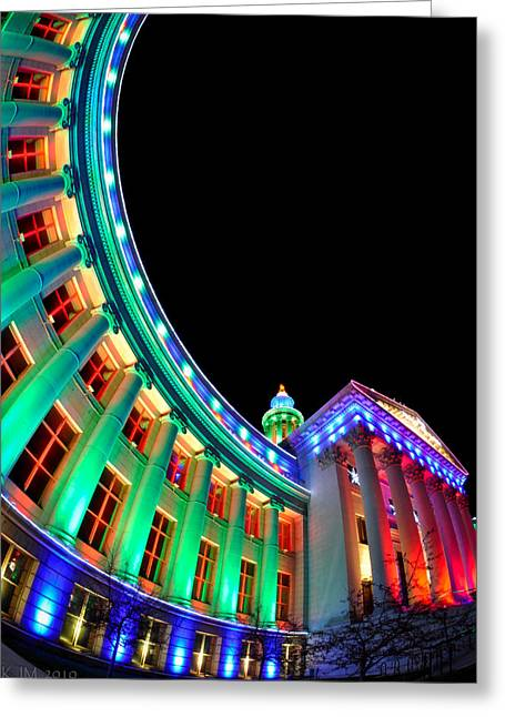 Civic Center Greeting Cards - Christmas Lights of Denver Civic Center Park Greeting Card by Kevin Munro