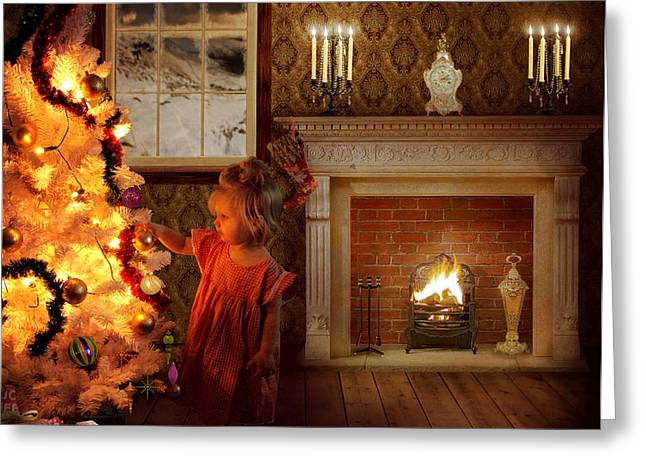 Candle Lit Greeting Cards - Christmas Magic Greeting Card by Eugene James