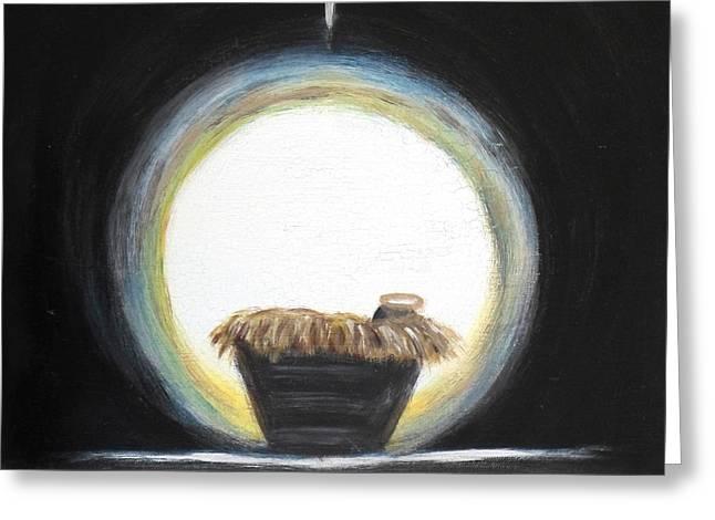 Star Of Bethlehem Greeting Cards - Christmas Nativity Greeting Card by Diane Wigstone
