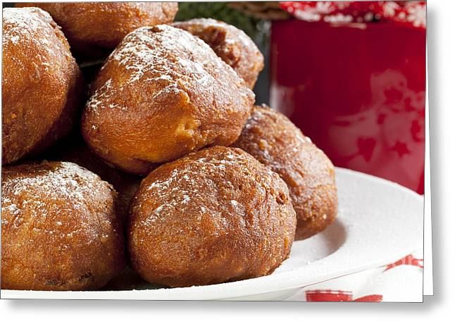 Christmas Oliebollen Greeting Card by Charlotte Lake
