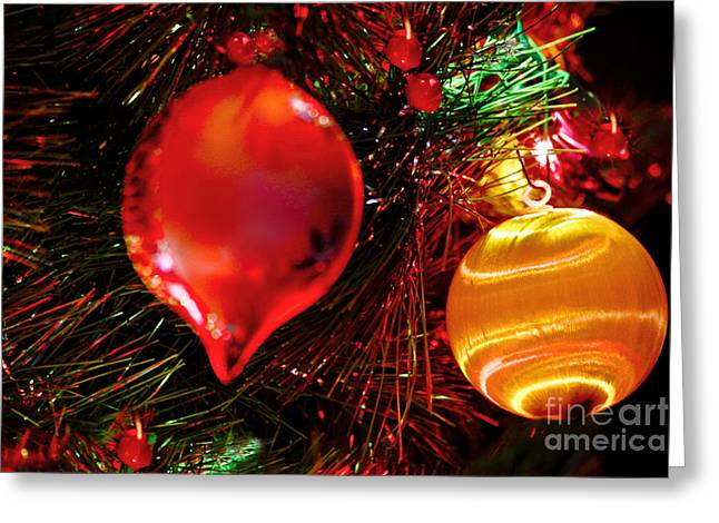 Spririt Greeting Cards - Christmas Ornament Decoration Greeting Card by Carol F Austin