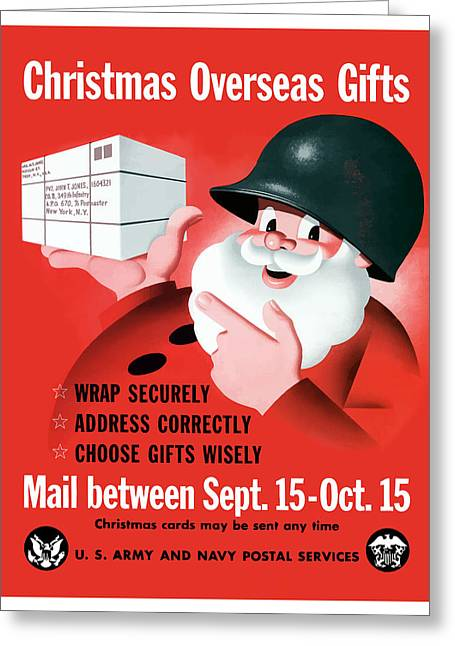 War Propaganda Greeting Cards - Christmas Overseas Gifts Greeting Card by War Is Hell Store