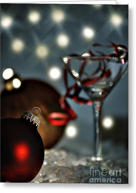 Christmas Party Greeting Card by HD Connelly