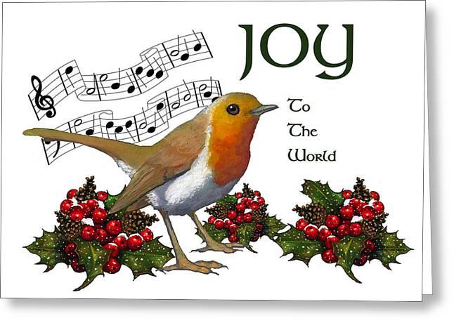 Berry Pastels Greeting Cards - Christmas Robin Greeting Card by Joyce Geleynse