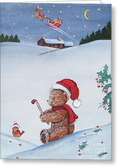 Happy Hog Greeting Cards - Christmas Rocks Greeting Card by Gordon Lavender
