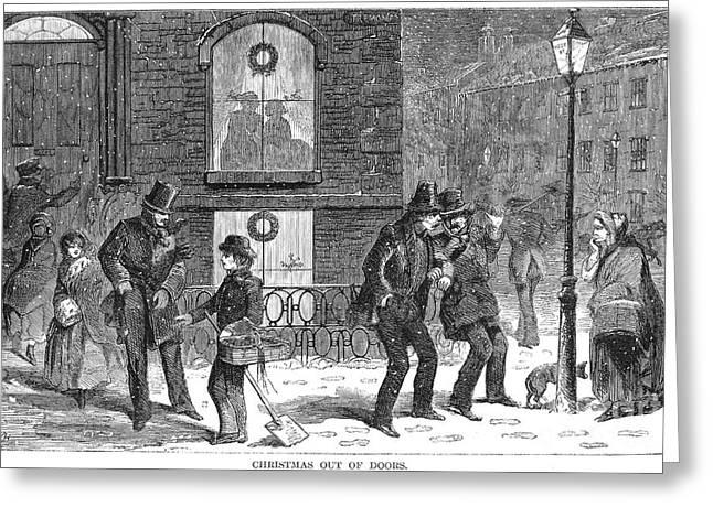 Christmas Scene, 1858 Greeting Card by Granger