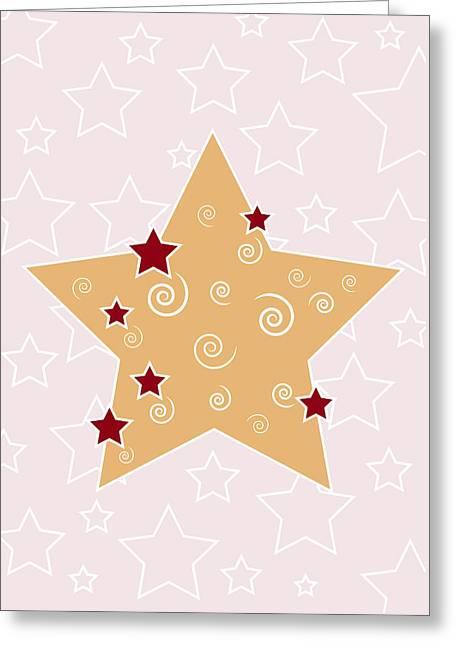 Christmas Star Greeting Card by Frank Tschakert