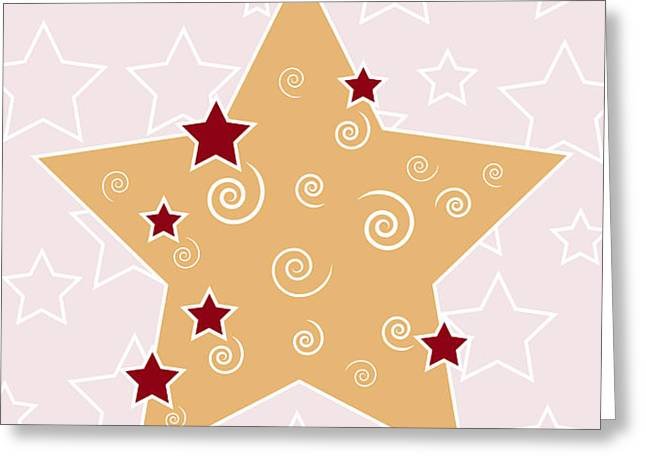 Christmas Star Greeting Card by Frank Tschakert