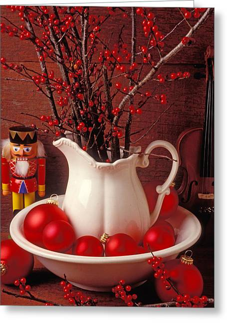 December 25th Greeting Cards - Christmas still life Greeting Card by Garry Gay