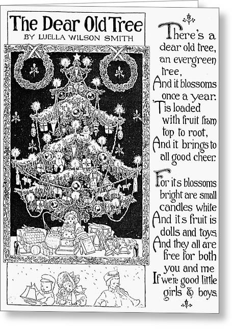 1907 Greeting Cards - Christmas Tree, 1907 Greeting Card by Granger