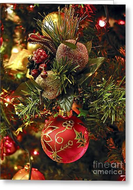 Christmas Tree Ornaments Greeting Card by Elena Elisseeva