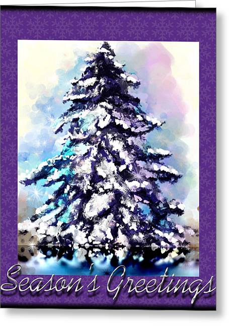 Montana Artist Greeting Cards - Christmas Tree Greeting Card by Susan Kinney