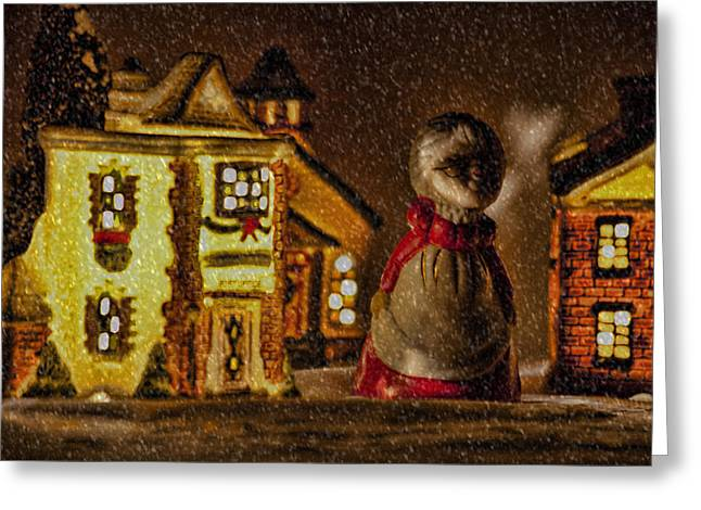 Christmas Village Greeting Cards - Christmas Village Greeting Card by Bonnie Bruno