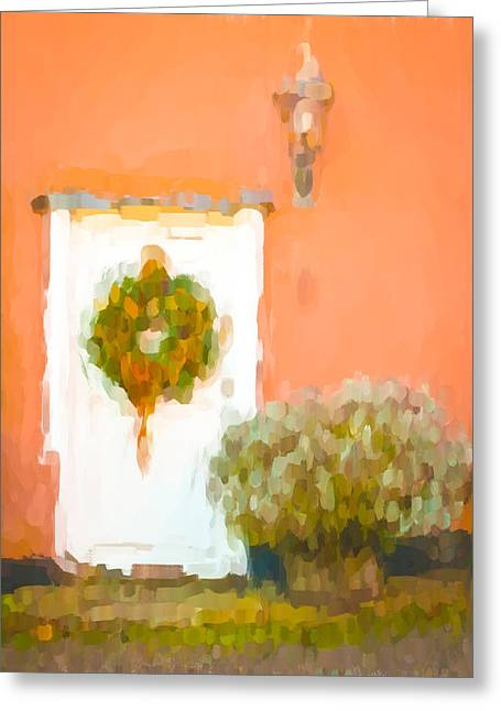 Yule Greeting Cards - Christmas wreath Greeting Card by Tom Gowanlock