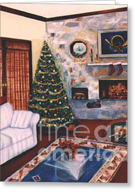 Customizable Greeting Cards - Christmastime Greeting Card by Karen Francis