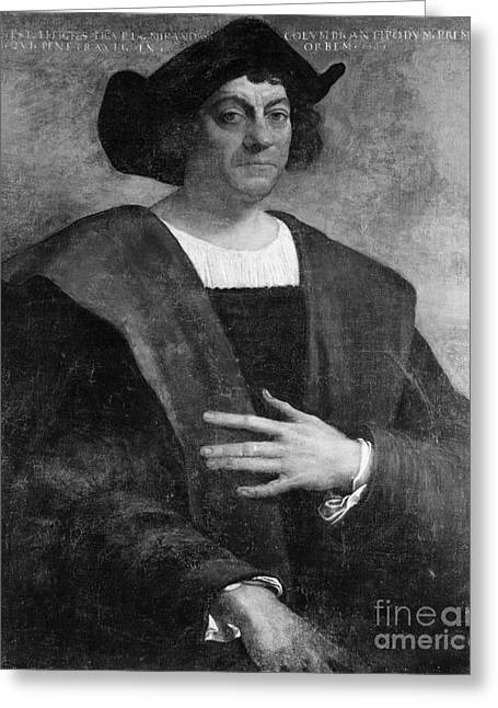 1506 Greeting Cards - Christopher Columbus, Italian Explorer Greeting Card by Omikron