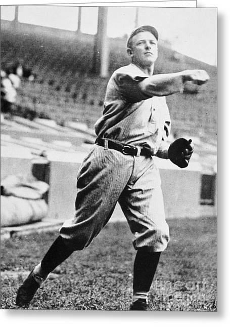 Christy Mathewson Greeting Cards - Christopher Mathewson Greeting Card by Granger