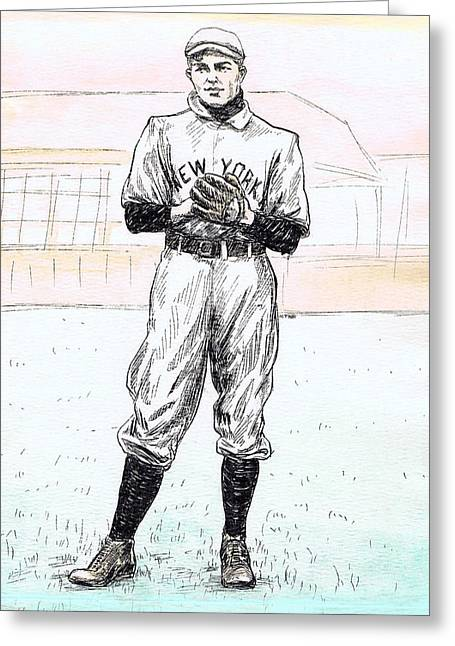 Christy Mathewson Greeting Card by Mel Thompson