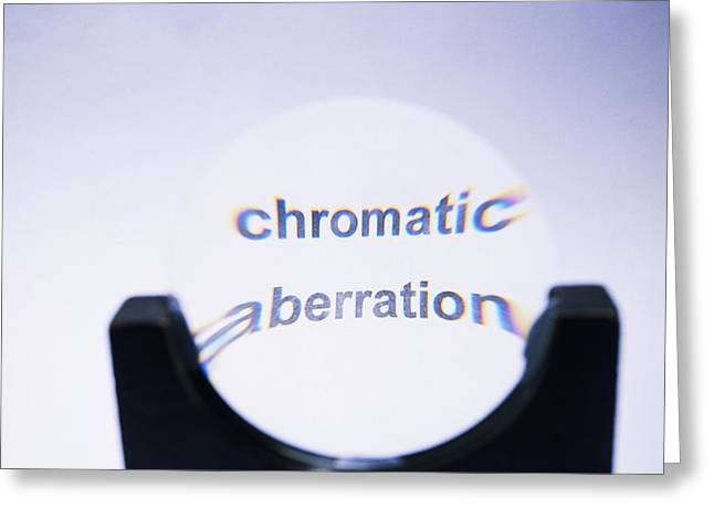 Chromatic Aberration Greeting Card by Andrew Lambert Photography
