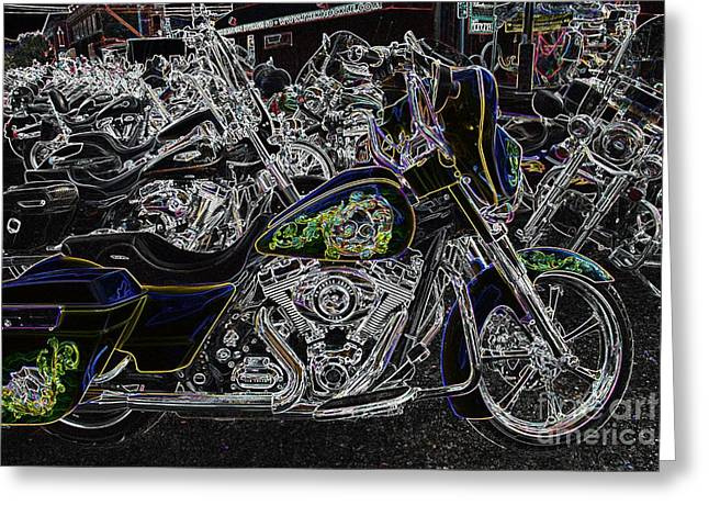 Rally Greeting Cards - Chrome And Paint Greeting Card by Anthony Wilkening
