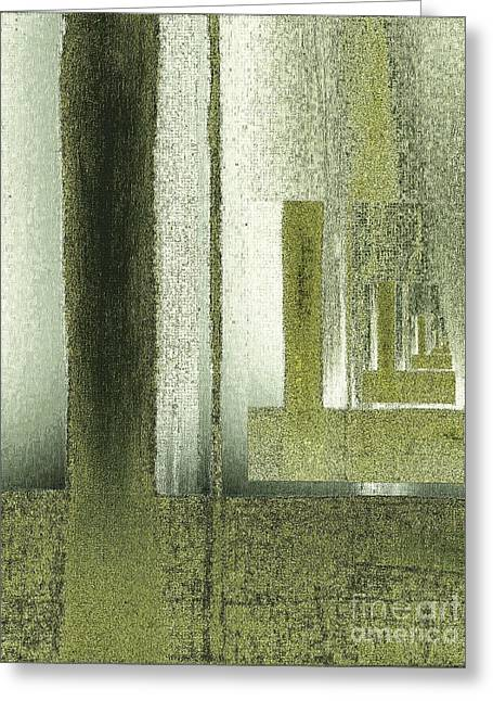 Olive Green Greeting Cards - Chrome Olive Greens Greeting Card by Marsha Heiken