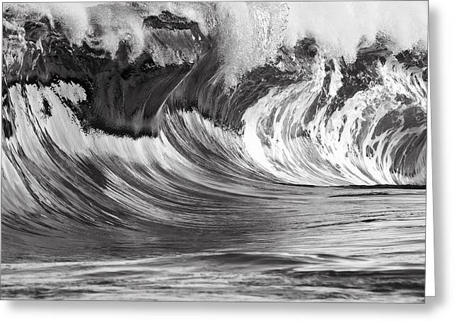 Vince Greeting Cards - Chrome Wave Greeting Card by Vince Cavataio