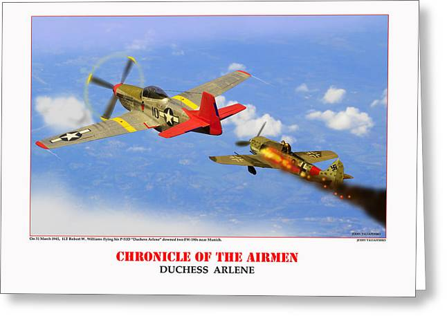 Tuskegee Airman Greeting Cards - Chronicle Of The Airmen Duchess Arlene Greeting Card by Jerry Taliaferro
