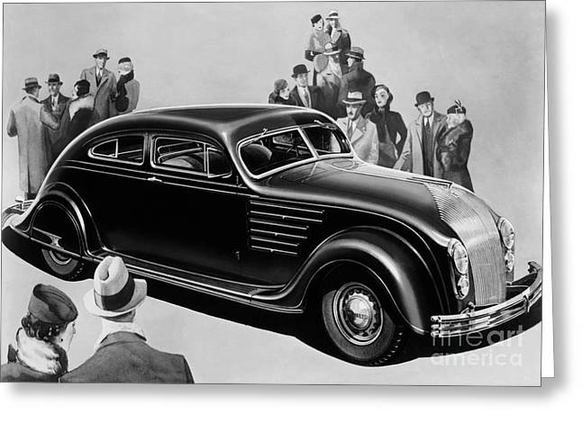 Chrysler Airflow Greeting Card by Photo Researchers