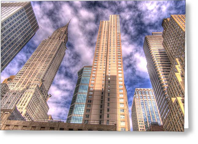 Chrysler Building Digital Art Greeting Cards - Chrysler Building among friends Greeting Card by Robert Ponzoni
