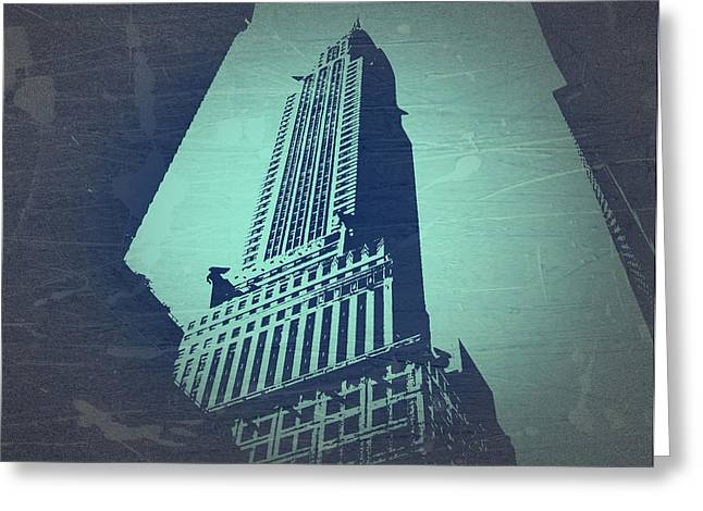Chrysler Building  Greeting Card by Naxart Studio