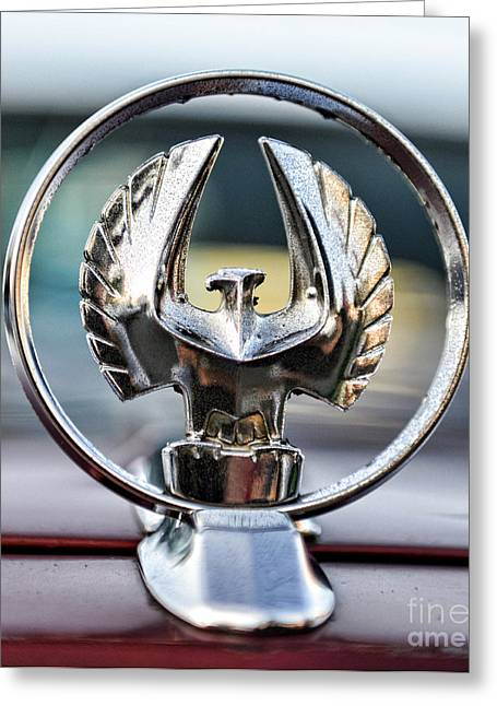 Green Hornets Greeting Cards - Chrysler Imperial Hood Ornament Greeting Card by Paul Ward