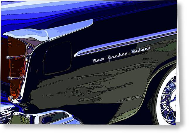 Samuel Sheats Greeting Cards - Chrysler New Yorker Deluxe Greeting Card by Samuel Sheats