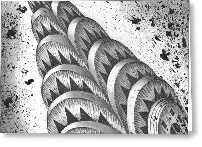 Chrysler Spire Greeting Card by Adam Zebediah Joseph