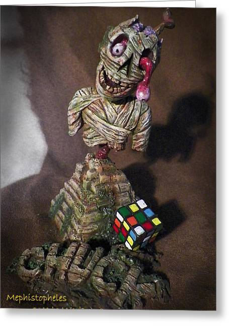 Sidekick Greeting Cards - Chuck Greeting Card by Billy Leslie