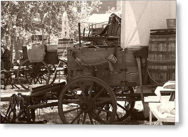 Wooden Wagons Greeting Cards - Chuckwagon Greeting Card by Toni Hopper