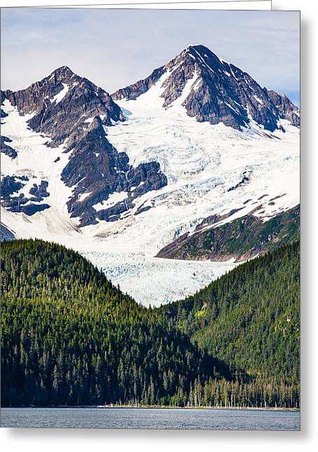 Prince William Sound Greeting Cards - Chugach Mountain Glaciers Greeting Card by Adam Pender