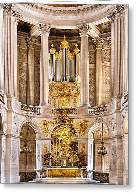 Berghoff Greeting Cards - Church Altar inside Palace of Versailles Greeting Card by Jon Berghoff