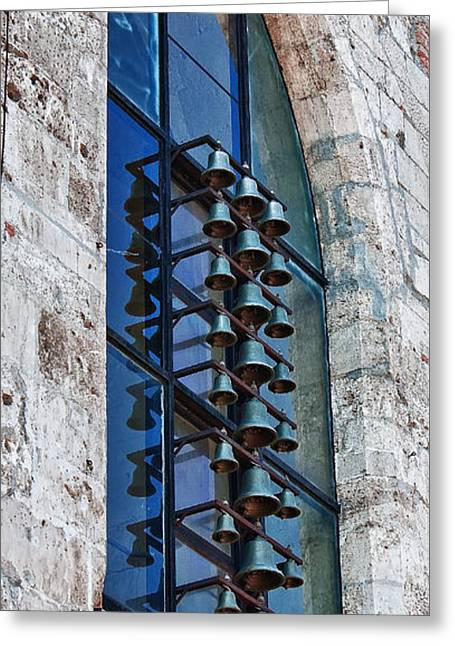 St Mary Magdalene Photographs Greeting Cards - Church bells Greeting Card by Shirley Mitchell