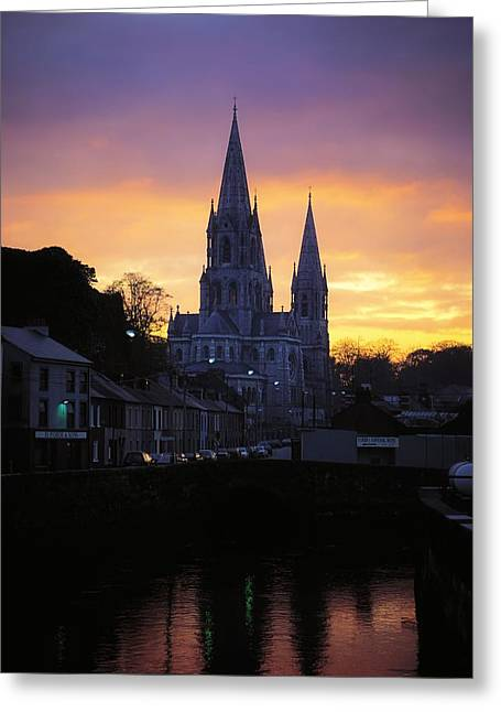 Reflections Of Shadows Greeting Cards - Church In A Town, Ireland Greeting Card by The Irish Image Collection