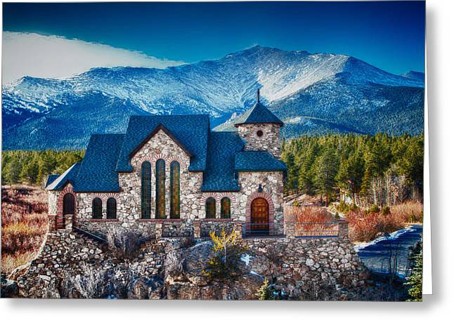 Gaines Greeting Cards - Church in the Rockies Greeting Card by Robert Gaines